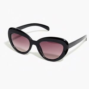 J. CREW Retro Black Cat Eye Glasses